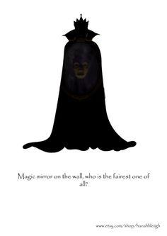 Méchants de Disney Print Snow Queen blanc par hannahhleiigh