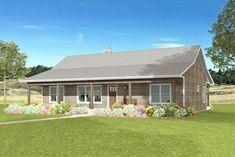 Metal House Plans, Pole Barn House Plans, House Plans One Story, Pole Barn Homes, New House Plans, Story House, House Floor Plans, Cabin House Plans, Garage Plans