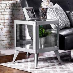 Furniture of America Carbon Loft Aspdin Modern Metal Cabinet ( Metal Accent Table, Metal End Tables, Sofa End Tables, Side Tables, Furniture Deals, Funky Furniture, Living Room Furniture, Furniture Outlet, Online Furniture