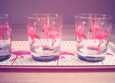 Pink flamingo glasses, IKEA