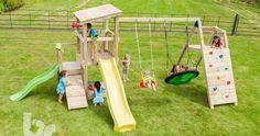 Parque niños con tobogán y columpio Cascade @Challenger - BR812501, IndalChess.com Tienda de juguetes online y juegos de jardin