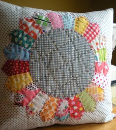Dresden Pillow by Mary @ Molly Flanders, via Flickr