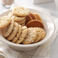 Angel Sugar Crisps Recipe ~ Whenever I've taken these to church coffees, I've had women come into the kitchen and request the recipe. You'll enjoy this sugar cookie's secret ingredient—brown sugar! —Annabel Cox, Olivet, South Dakota
