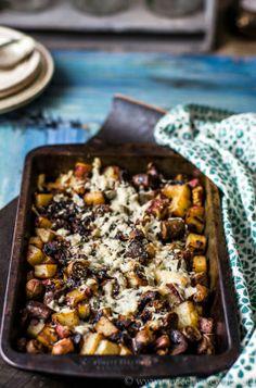Sausage, Mushroom & Potato Gratin {Via @Shumaila Chauhan}