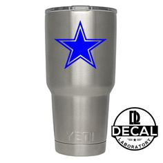 Yeti Decal Sticker - Dallas Cowboys Decal Sticker For Yeti RTIC Rambler Tumbler Coldster Beer Mug