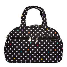 Bolso maternal Active Alexis con estampado de lunares para guardar todo lo que necesitas cuando sales con tu bebé. #bolsosmaternales #kiwisac