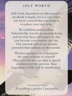 'Self worth' - Wisdom Card – Diana Cooper