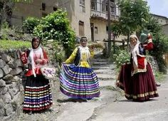 Gilaki Women in gorgeous traditional Dresses from the Gilan Province, Iran.
