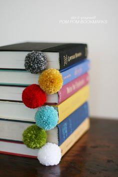 DIY pom pom bookmarks - cute homemade gift!