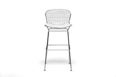 Tolland Modern Bar Stool with White Cushion