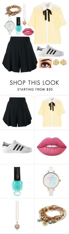 """""""Preppy"""" by puppydog28 ❤ liked on Polyvore featuring Chloé, Sandro, adidas, Lime Crime, Hot Topic, Thomas Sabo, Lizzy James and Effy Jewelry"""
