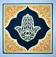 Hamsa 11 Jewish papercut paper goods by jewishpapercutting on Etsy, $19.00