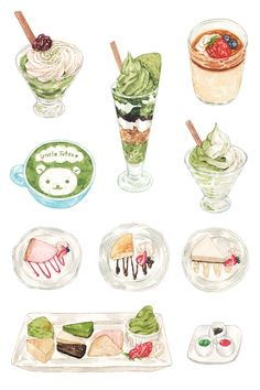 Japanese Desserts on Behance