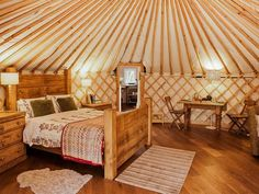 The beautifully unique Rowan Yurt is ideal for a romantic getaway with a difference!