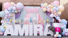 Princess Birthday Party Decorations, Birthday Party Planner, Girl Baby Shower Decorations, Girl Birthday Themes, Carnival Themed Party, Carnival Birthday Parties, Circus Party, First Birthday Parties, Circus Wedding