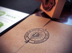 seal the envelopes for the wedding invitations with your own stamp