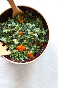 For @Dr. J -Kale and Persimmon Salad