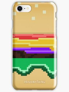 'Bit Burger ' iPhone Case by proudnothing Cool Iphone Cases, Iphone Case Covers, Iphone Se, Nintendo Consoles, Protective Cases, Gift Ideas, Cool Stuff, Mini, Gifts