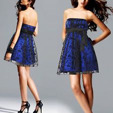 Ever-Pretty Blue Mini Sexy Cocktail Party Lace Formal Simple Cheap Dresses 03122