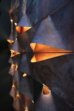 Lighting and metal cladding Metal Cladding, Wall Cladding, Interior Lighting, Lighting Design, Lighting Ideas, Industrial Lighting, Bedroom Lighting, Modern Lighting, Light Art