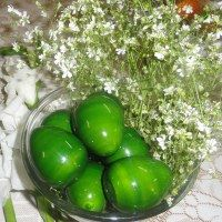 Decorative Easter Eggs - Handmade of wood at $9