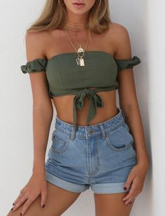 Buy Our Stormy Crop in Khaki Online Today! - Tiger Mist