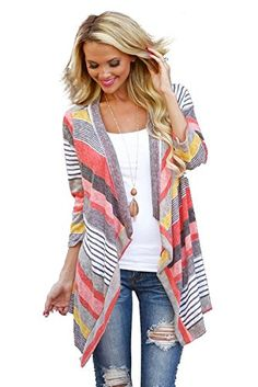 My Wardrobe Women's Fashion Geometric Print Drape Front Cable Knit Cardigan (S, Red) Myobe http://smile.amazon.com/dp/B016RUPRT0/ref=cm_sw_r_pi_dp_4B0Uwb09HFM5P
