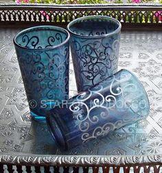 Jasmine Turquoise Tea Glasses
