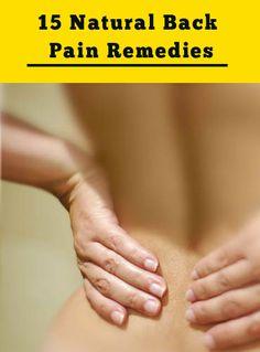 Natural Back Pain Remedies
