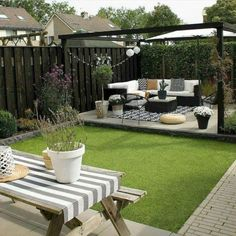 Fantastic backyard patio decorating ideas Find inspirations to plan and beautify your backyard design. These backyard patio ideas will help you to make your backyard pretty and comfort. Check now! Terrace Garden Design, Backyard Patio Designs, Small Backyard Landscaping, Backyard Pergola, Small Garden Design, Landscaping Ideas, Pergola Kits, Pergola Ideas, Backyard Pools