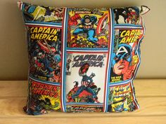 Would be great for Garon once the basement is finished. Marvel Dc, Marvel Comics, Marvel Nursery, 15th Wedding Anniversary Gift, Comic Room, Cushions, Pillows, Marvel Cinematic Universe, A Team