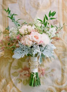 #dusty-miller, #rose  Photography: KT Merry - ktmerry.com  Read More: http://www.stylemepretty.com/2014/05/28/romantic-glamour-in-miami/