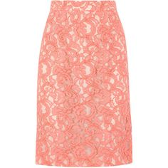 Moschino Cheap & Chic Lace Pencil Skirt ($385) found on Polyvore