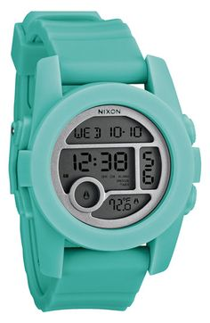 Not necessary but so cute---- Nixon 'The Unit 40' Round Digital Watch available at #Nordstrom