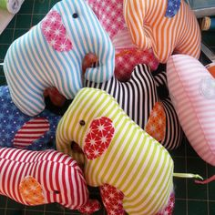 Circus Oli : PDF elephant mini sewing pattern. by ricracsews