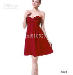 Wholesale Bridesmaid Dresses -  Strapless Flower A-line Short Bridesmaid Dresses, $58.91   DHgate