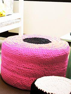Nordic Yarns and Design since 1928 Haku, Outdoor Furniture, Outdoor Decor, Knits, Bean Bag Chair, Ottoman, Crochet, Pillows, Knitting