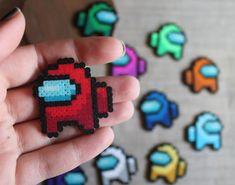 Easy Perler Bead Patterns, Melty Bead Patterns, Perler Bead Templates, Diy Perler Beads, Perler Bead Art, Beading Patterns, Pixel Beads, Fuse Beads, Perle Hama Star Wars