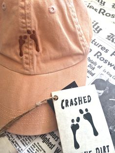 The Crashed in the Dirt Hat by CreatedByJim on Etsy