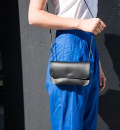 The Straight and Narrow Bag in Black. Essential minimalist bag.
