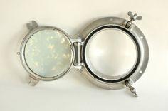 Vintage Porthole - Aluminum - Glass - Window