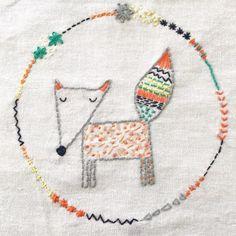 """Mi piace"": 535, commenti: 4 - •Sally Payne (UK)• (@sallypayne_design) su Instagram: ""#Fox #embroidery #stitch #autumn"""