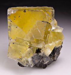 Fluorite with Chalcopyrite  Sphalerite from Illinois by Dan Weinrich