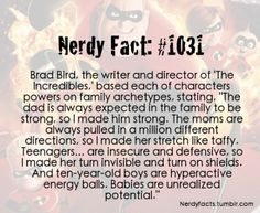The Incredibles powers are based on family archetypes.