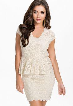 Sexy Flawless Lace Ivory Peplum Dress Cheap Dresses, Sexy Dresses, Fashion Dresses, Girls Dresses, Peplum Dresses, Evening Dresses, Women's Fashion, White Lace Mini Dress, Dress Lace