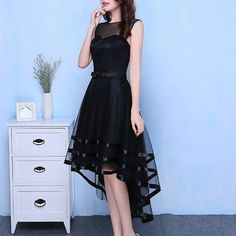 Design: Round Neck Sleeveless Band & Bow Hi Low Hem Solid Colour A-Line V Back Ribbon Tulle Zip-back Fastening About me: Shell: Chiffon Hand Wash Occasion Dress Tulle Dress, Dress Up, Occasion Dresses, Chiffon, Ribbon, Shell, Clothes, Colour, Band