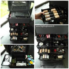 Valise maquillage professionnelle noire parisax avec - Mallette de maquillage pas cher ...