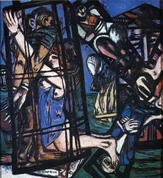 The mill, 1947 by Max Beckmann. Expressionism. genre painting