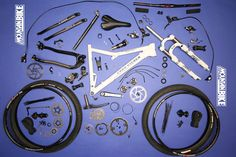 Weight of each component on a mountain bike (bike autopsy 660)