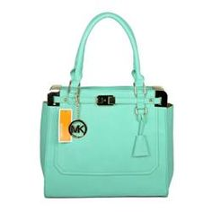 Michael Kors Pebbled Leather Large Green Satchels